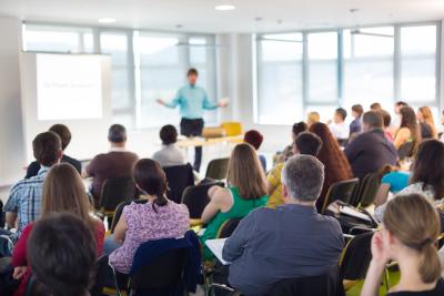 people having a organizational training